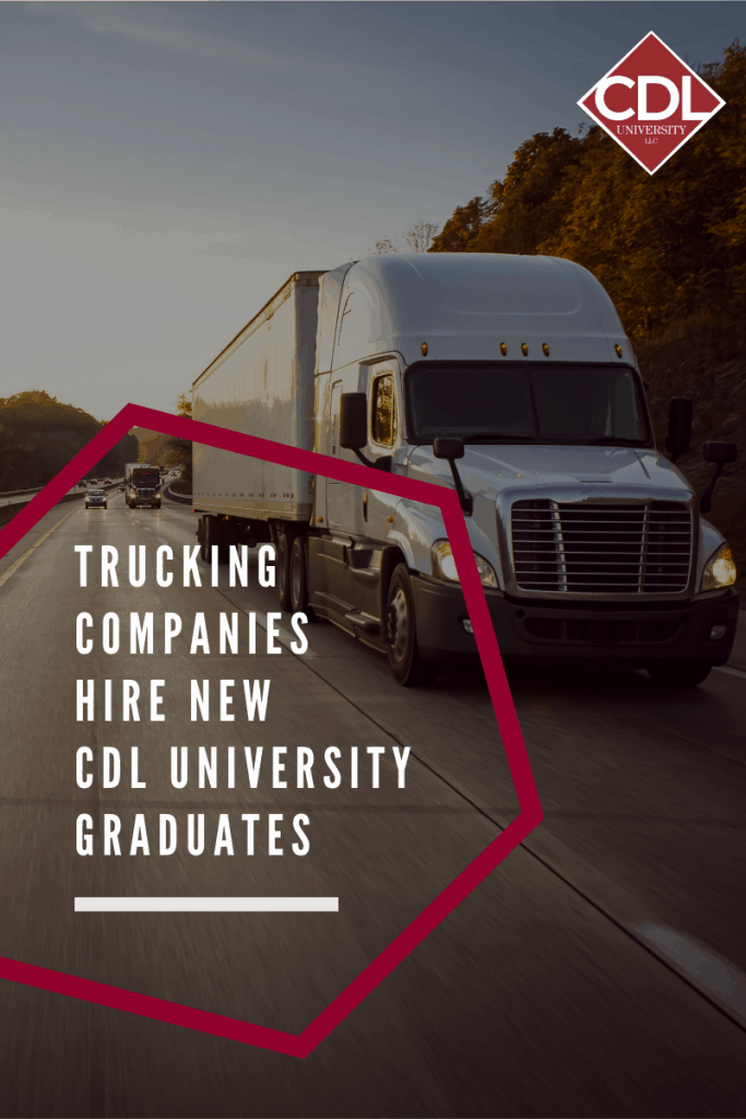 trucking companies blog graphic with cdl university logo