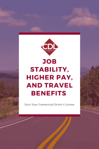 Job Stability with CDL University training graphic